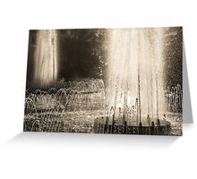 Brilliant Silver Fountains, Dancing in the Sunshine Greeting Card
