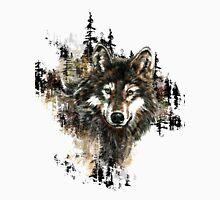 Watercolor Wolf Mountain  Art Unisex T-Shirt