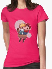 Tanooki Peach and Mario T-Shirt