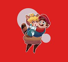 Tanooki Peach and Mario Women's Fitted Scoop T-Shirt