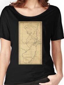 American Revolutionary War Era Maps 1750-1786 619 New York & New Jersey commissioners line from 410 on Hudson's River taken in 1769 Women's Relaxed Fit T-Shirt