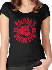 Balrog's boxing gym Women's Fitted Scoop T-Shirt