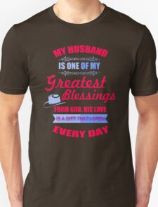 My Husband Is One  Of My Greatest Blessing T-Shirt