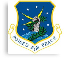 """91th Missile Wing """"Poised for Peace"""" Canvas Print"""