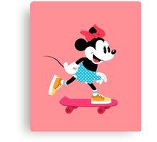 Minnie Mouse Skate Canvas Print