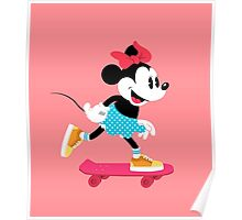 Minnie Mouse Skate Poster