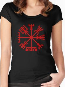 Vegvisir Red Women's Fitted Scoop T-Shirt