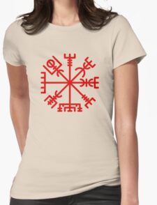 Vegvisir Red Womens Fitted T-Shirt