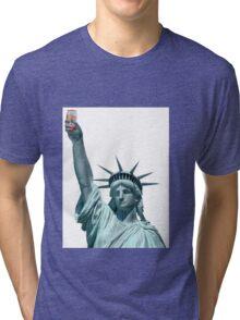 Statue of Emu Export Tri-blend T-Shirt