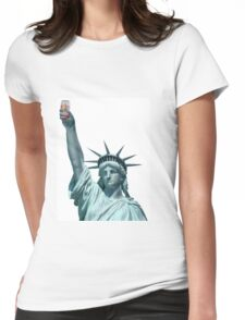 Statue of Emu Export Womens Fitted T-Shirt