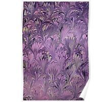 Abstract Ebru in Purple Poster
