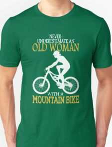 Never Underestimate An Old Woman With A Mountain Bike T-Shirt