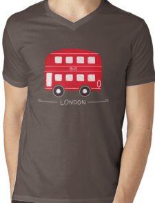 London Bus Mens V-Neck T-Shirt