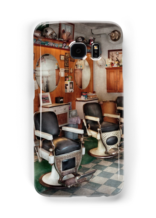 Barber - Frenchtown Barbers  by Mike  Savad