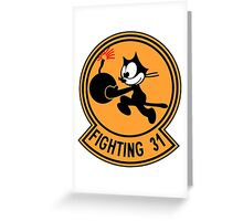 "VFA-31 Strike Fighter Squadron 31 ""Tomcatters"" Greeting Card"