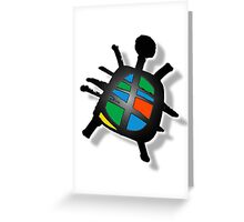 peace turtle Greeting Card