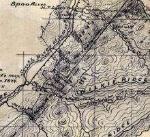 267 Topographic map of the Vesuvius Furnace Iron Estate Rockbridge Co Va 8 000 acres Sticker