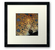Broken Bud and Golden Lace Framed Print
