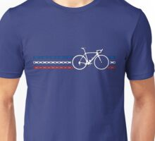 Bike Stripes France - Chain Unisex T-Shirt