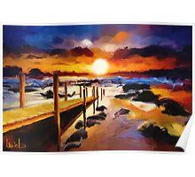 Seashore Bridge Poster