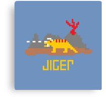 Jiger Pixel Canvas Print