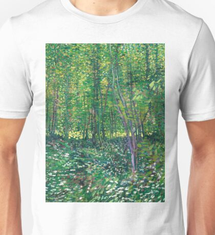 1887-Vincent van Gogh-Trees and undergrowth Unisex T-Shirt