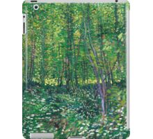 1887-Vincent van Gogh-Trees and undergrowth iPad Case/Skin