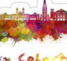 San Sebastian skyline in watercolor Sticker