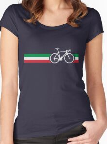 Bike Stripes Italian National Road Race Women's Fitted Scoop T-Shirt
