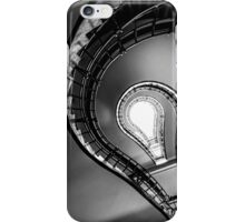 Cubist staircase black & white iPhone Case/Skin