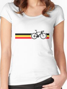 Bike Stripes Belgian National Road Race Women's Fitted Scoop T-Shirt