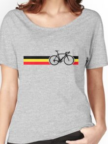 Bike Stripes Belgian National Road Race Women's Relaxed Fit T-Shirt