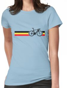 Bike Stripes Belgian National Road Race Womens Fitted T-Shirt