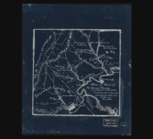 179 Map of part of the great Flat-top coal-field of Va W Va showing location of Pocahontas Bluestone collieries May 1886 Inverted One Piece - Short Sleeve
