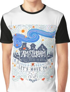 Let's move to Amsterdam Graphic T-Shirt