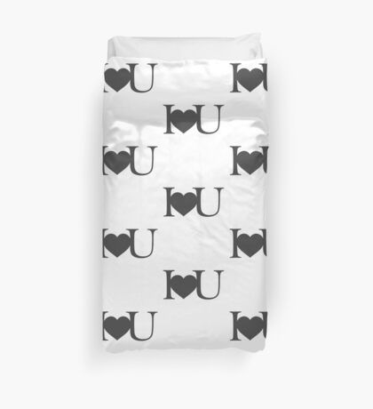I love you V.1.0 Duvet Cover