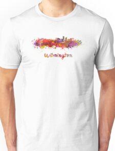 Wilmington skyline in watercolor Unisex T-Shirt