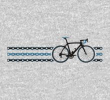 Bike Stripes Team Sky - Chain One Piece - Short Sleeve