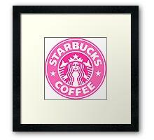 Pink Starbucks Framed Print