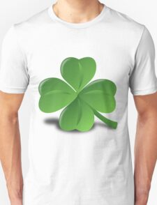 Four leaf clover glazing Unisex T-Shirt