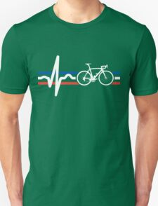 Bike Stripes France - Heartbeat Unisex T-Shirt