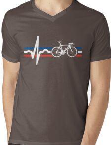 Bike Stripes France - Heartbeat Mens V-Neck T-Shirt