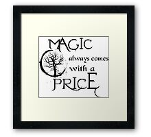 Once upon a time-quote Framed Print