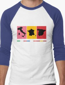 Grand Tours Countries v2 Men's Baseball ¾ T-Shirt