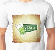 Happy Saint Patrick's day beer card Unisex T-Shirt