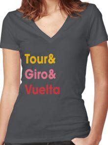 Grand Tours v3 Women's Fitted V-Neck T-Shirt