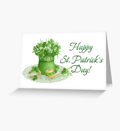Happy Saint Patrick's day card Greeting Card