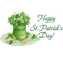 Happy Saint Patrick's day card Photographic Print