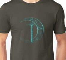 Blue Celtic Moon and Sword Unisex T-Shirt