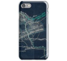 156 Map of 11 000 acres of iron and coal lands in Wythe Co Va Inverted iPhone Case/Skin